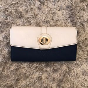 Charming Charlie Navy & White Leather Wallet